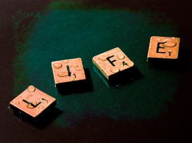LIFE - SCRABBLE tiles