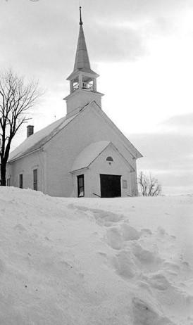 snowbound church